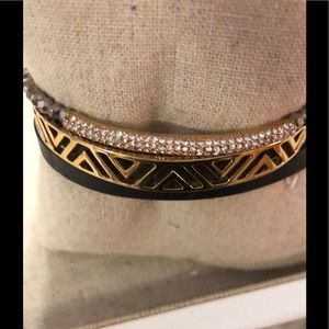 NIB  S&D Ally Double Black &Pave Wishing Bracelet